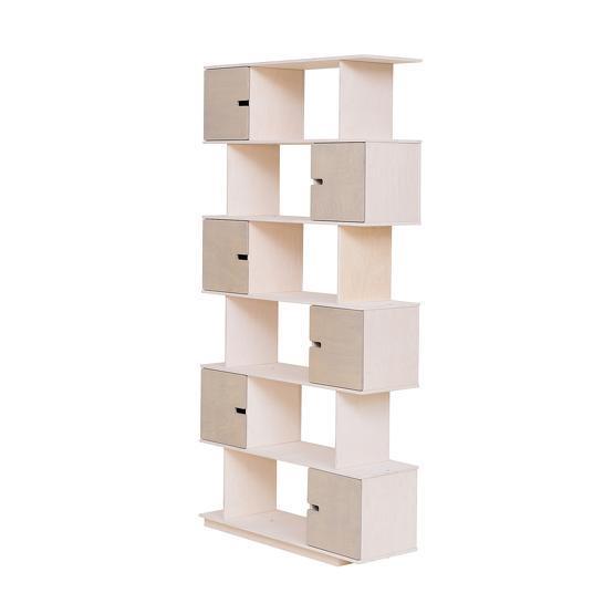 Etagère 6 niveaux grises et blanche Pix - Radis