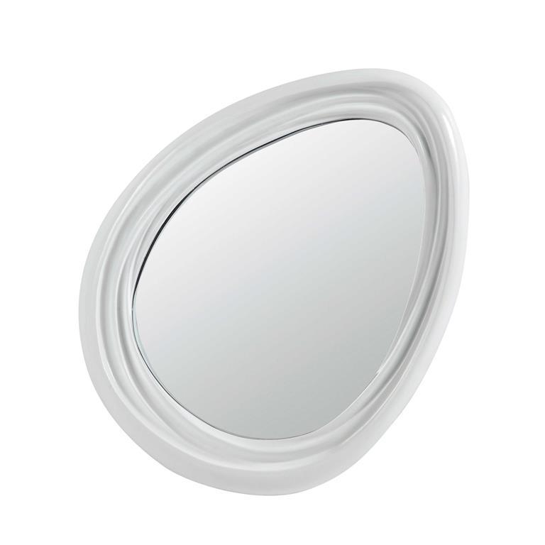 Miroir en résine blanc H 67 cm ICE