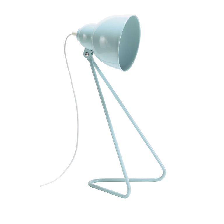 Lampe en métal bleu pastel H 53 cm ZIGGY