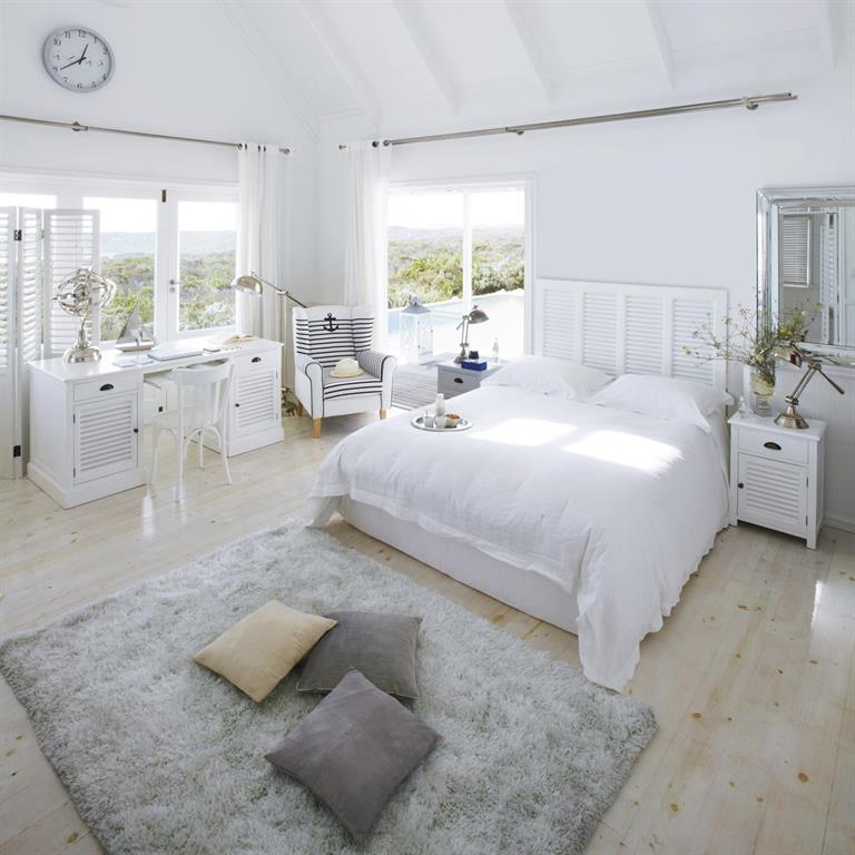 Bureau 1 porte 4 tiroirs blanc Newport Maisons du monde