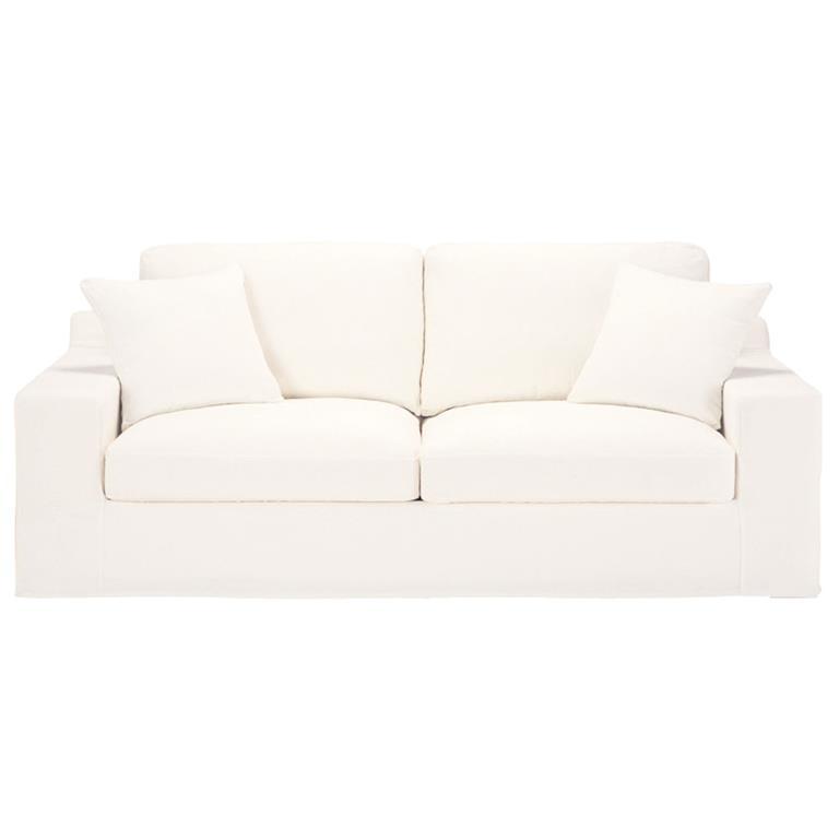 Canapé-lit 3 places en coton ivoire Stuart