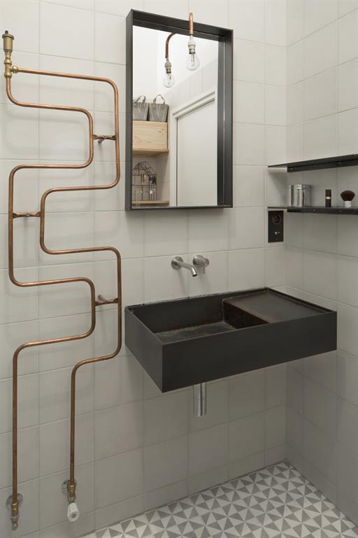 Image Pour éclairer la salle de bains parentale comme la buanderie Maxime Jansens Architecte