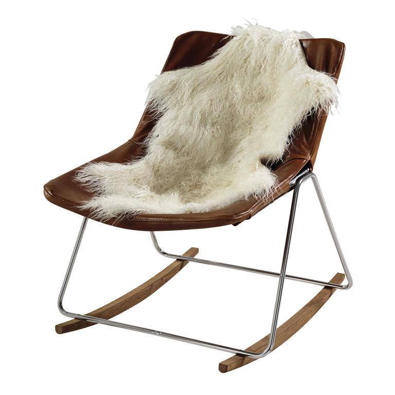 jet en fausse fourrure blanche 50 x 90 cm furis maisons du monde. Black Bedroom Furniture Sets. Home Design Ideas