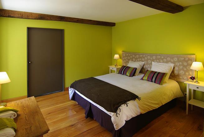 Awesome Chambre Marron Et Vert Pomme Galerie - Idées décoration ...