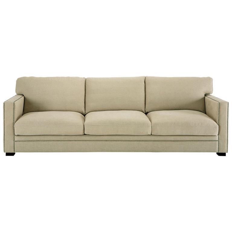 Canapé 4/5 places en lin mastic Dandy