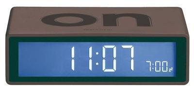 Réveil Flip LCD - Lexon gris foncé en matière plastique