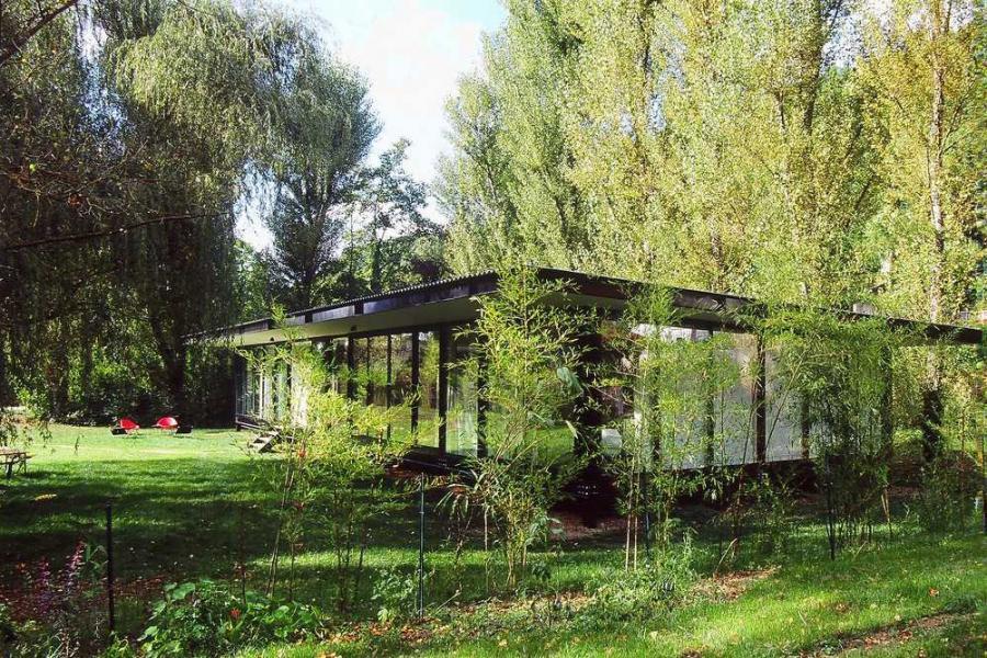 Maison de verre en pleine nature barr s coquet photo n 45 for Maison toit en verre