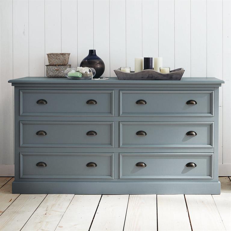 Commode en pin gris L 160 cm Newport Maisons du monde