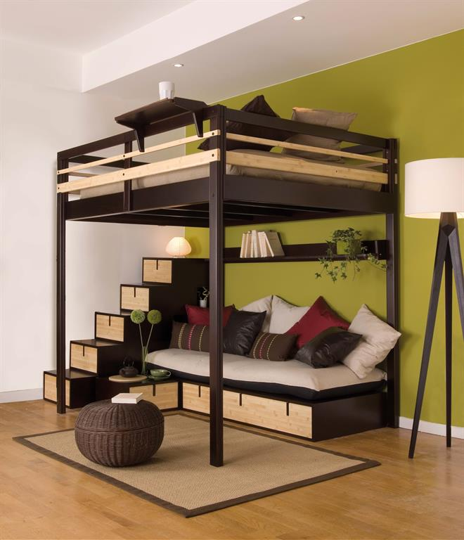 superbe meuble gain de place pour studio 11 d co tudiant meubles gain de place bureau mobile. Black Bedroom Furniture Sets. Home Design Ideas