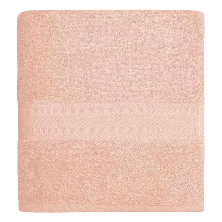 Drap de bain 550gr/m²  Rose Poudre 70x140 cm