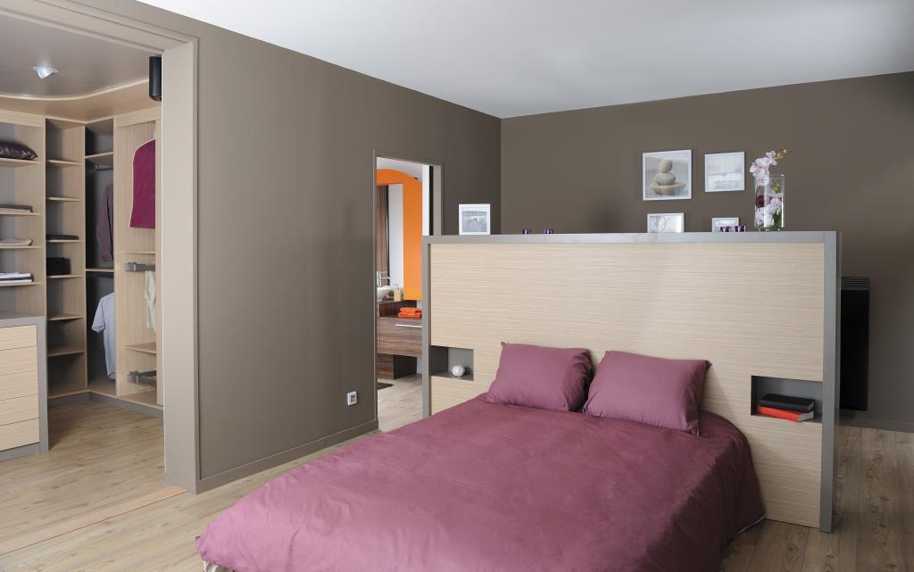 T te de lit sur mesure avec des niches encastr es art du temps - Tete de lit avec niche ...