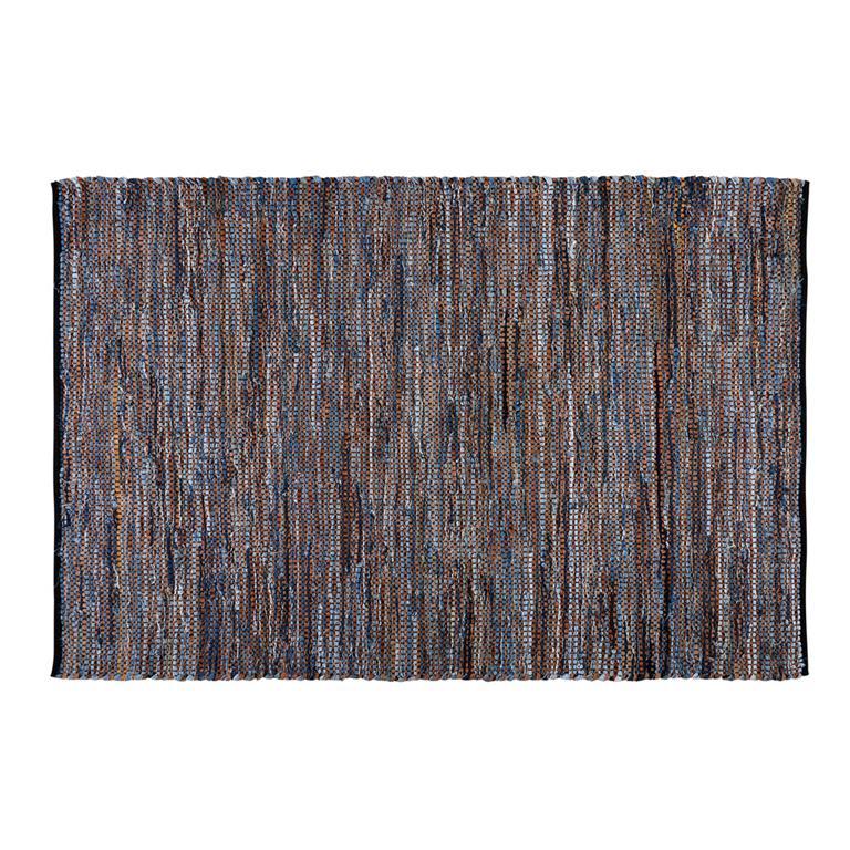 tapis en coton motifs carreaux de ciment bleus 160x230cm blocalia. Black Bedroom Furniture Sets. Home Design Ideas