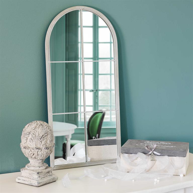 Miroir arcade en métal beige H 60 cm LABASTIDE