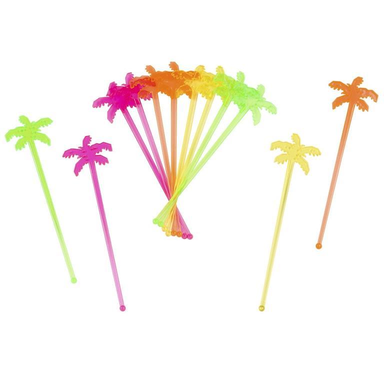 Touilleurs palmiers multicolores