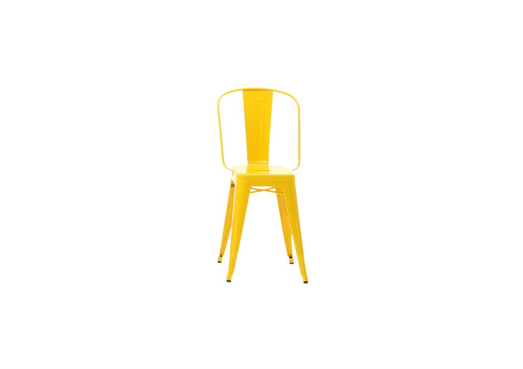 Tabouret H55 Grand Dossier bouton d'or