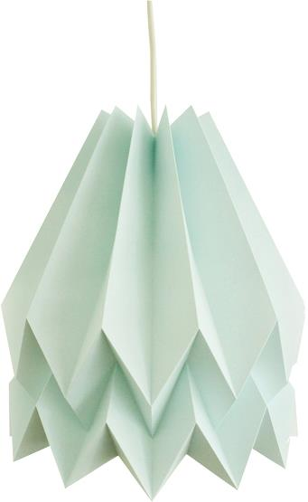 Abat-jour bleu menthe en papier - Orikomi