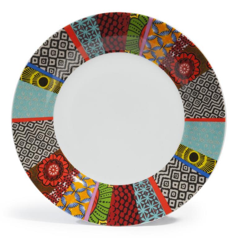 Plate En Porcelaine Multicolore D 27 Cm Janeiro