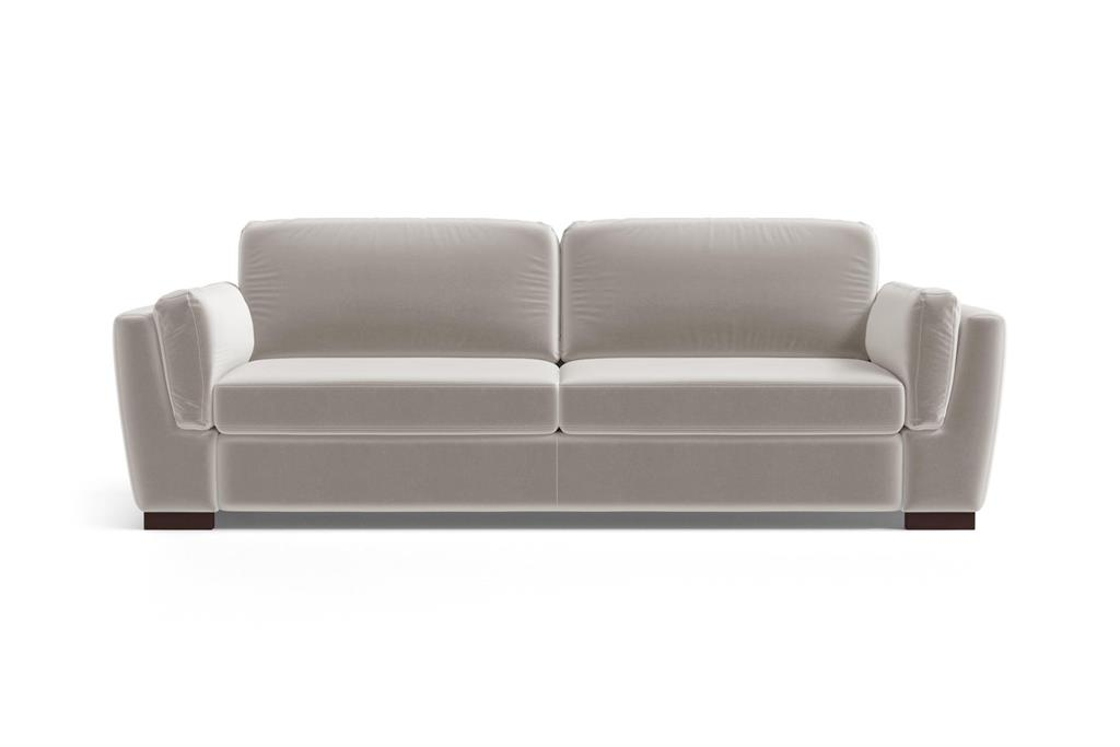Canapé 3 places en velours taupe