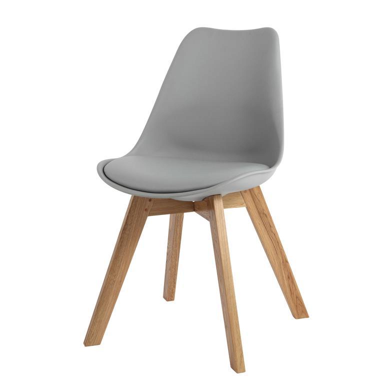 Misez sur un design un brin vintage avec la chaise scandinave grise et chêne massif ICE ! Pour encore plus de confort, cette chaise possède une galette sur l'assise. Avec ...