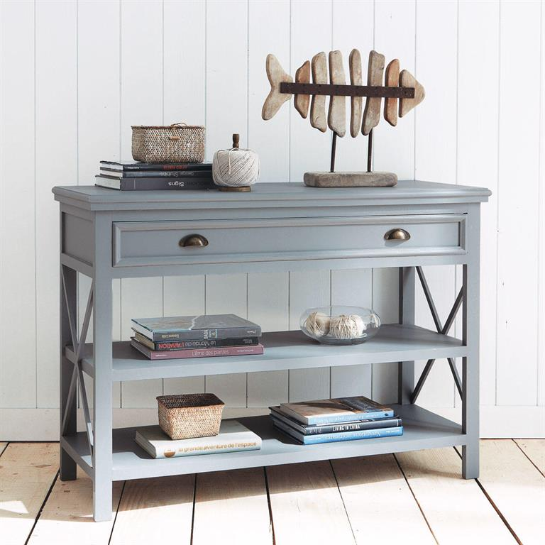 table console en pin gris l 120 cm newport