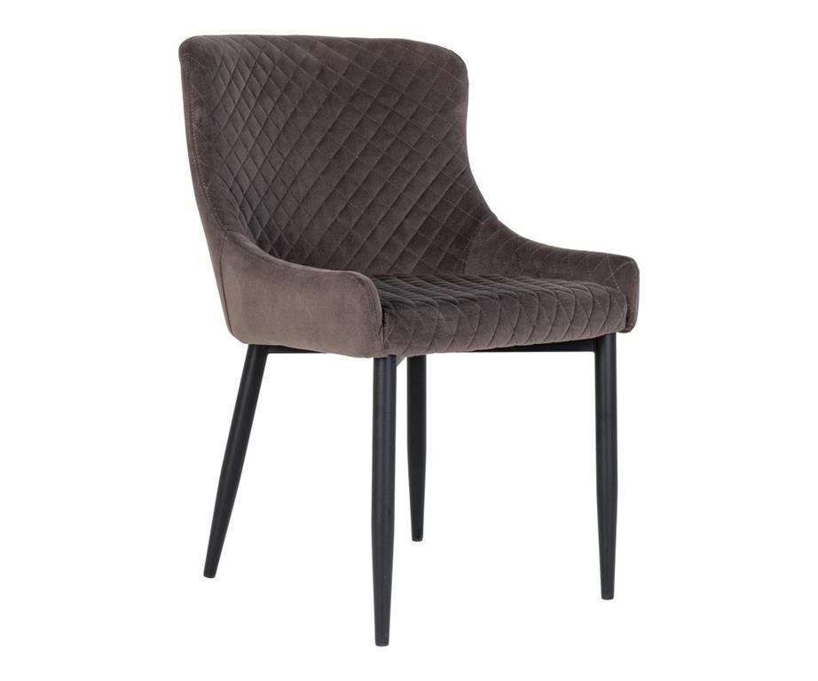 Chaise confortable en velours matelassé RALBI