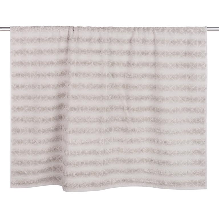 Drap de bain en coton motifs losanges 100x150