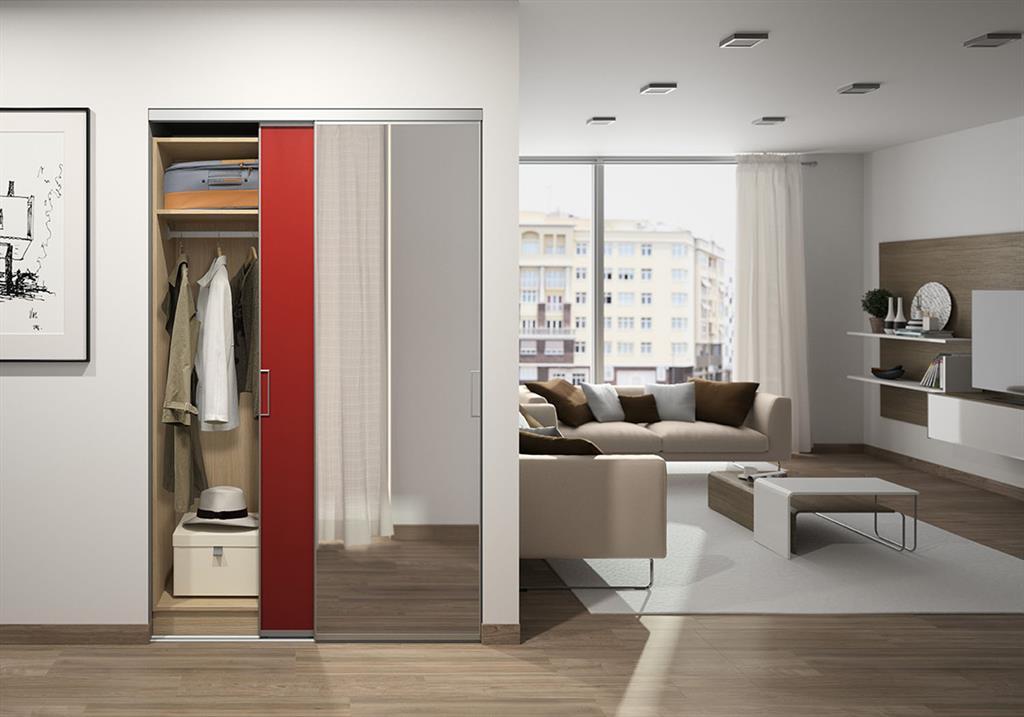 Placard avec portes coulissantes pour entr e for Placard pour couloir