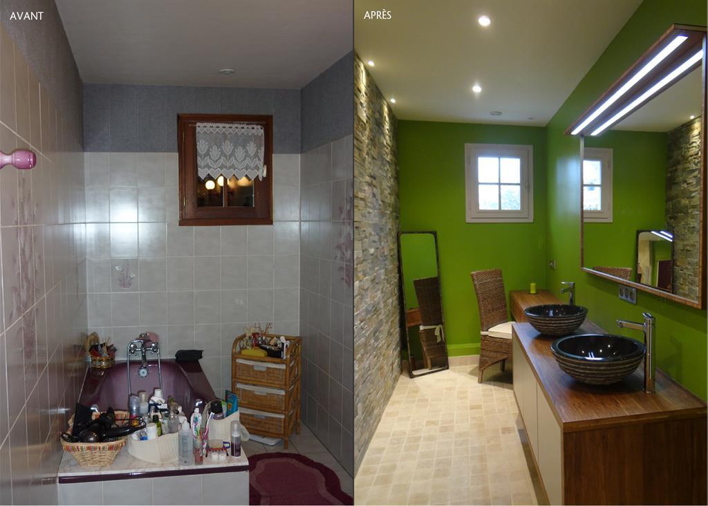 Une salle de bain très nature - domozoom.com