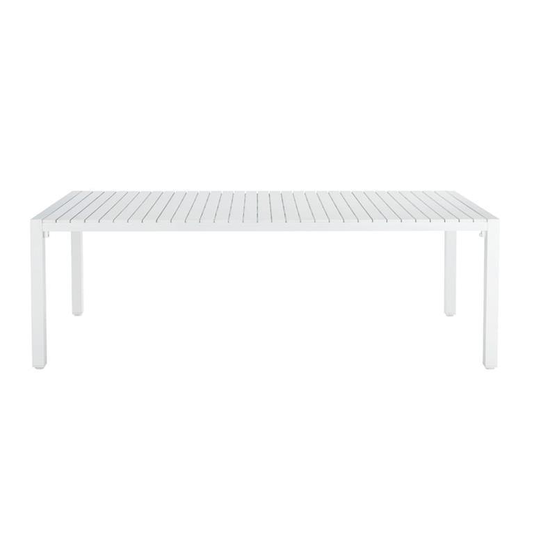 Table de jardin en aluminium blanc L 230 cm Portofino
