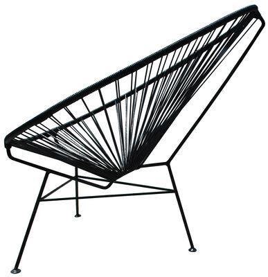 Fauteuil bas Acapulco - OK Design pour Sentou Edition noir en métal