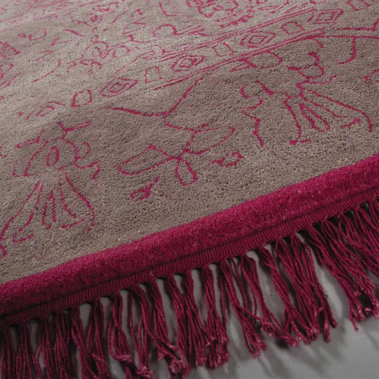 tapis poils courts en laine rose 200 x 140 cm artefact. Black Bedroom Furniture Sets. Home Design Ideas