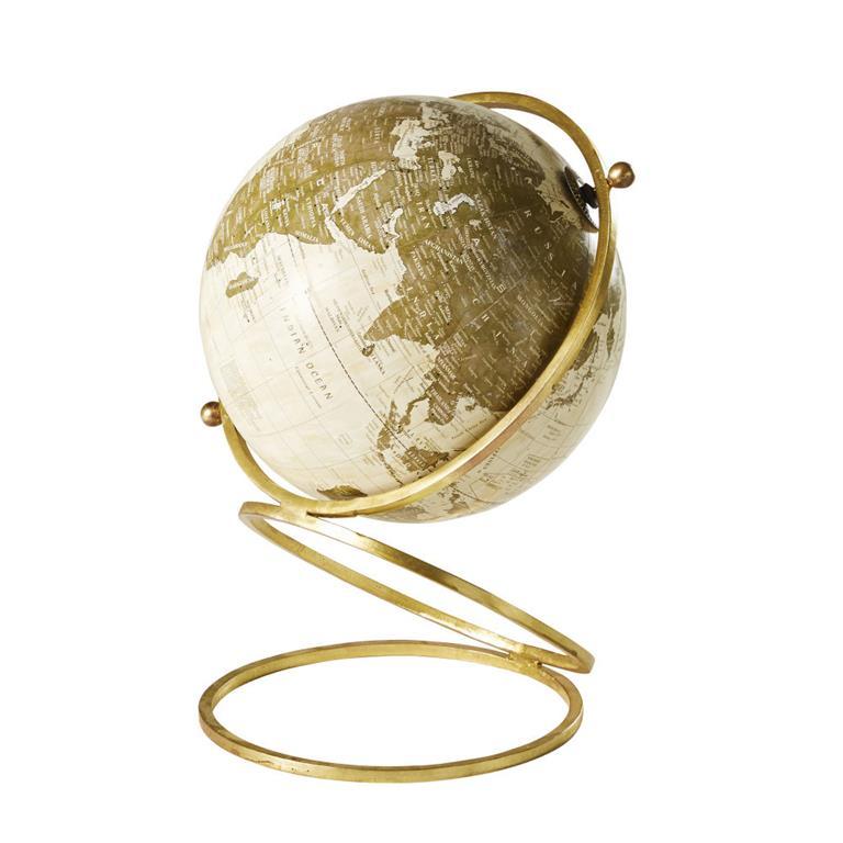Globe Terrestre Carte Du Monde En Métal Doré Maisons Du Monde