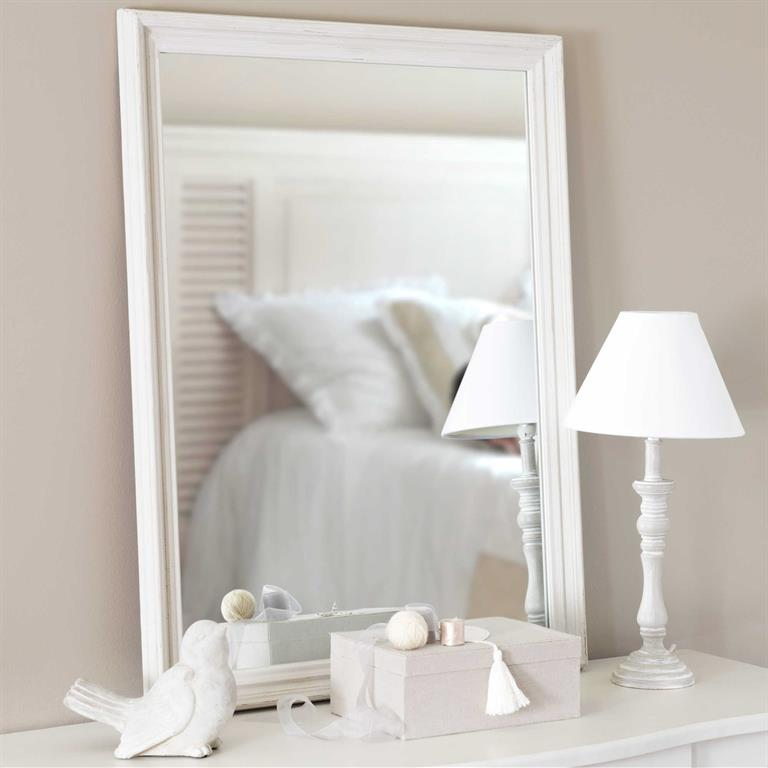 Miroir en bois gris clair H 80 cm CLÉA
