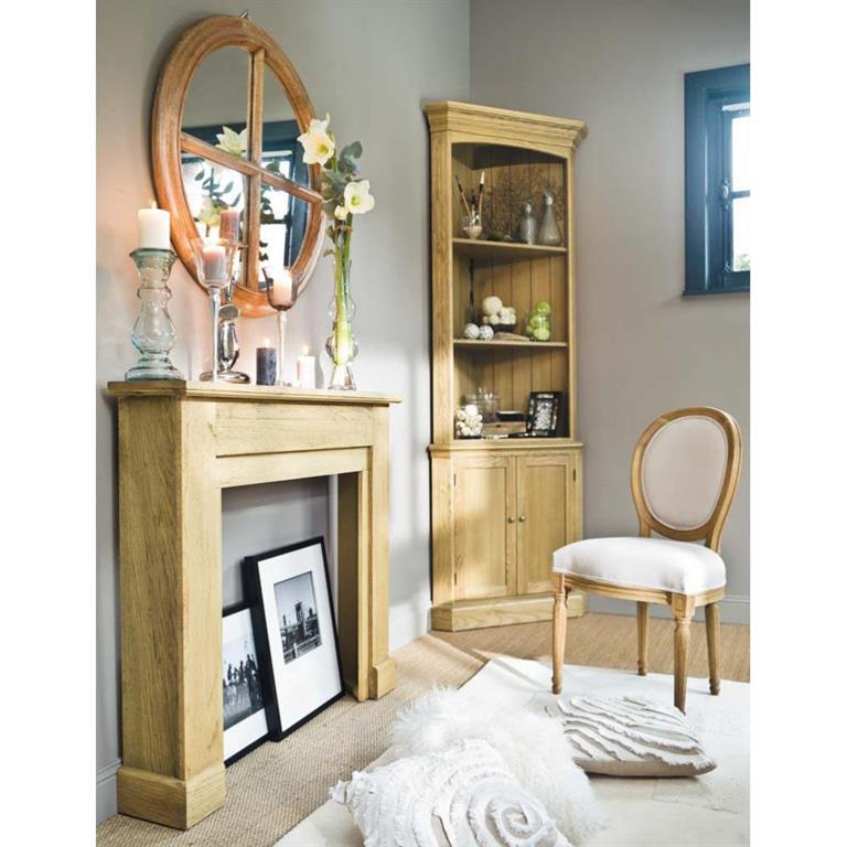 chaise m daillon en coton et ch ne massif crue louis. Black Bedroom Furniture Sets. Home Design Ideas