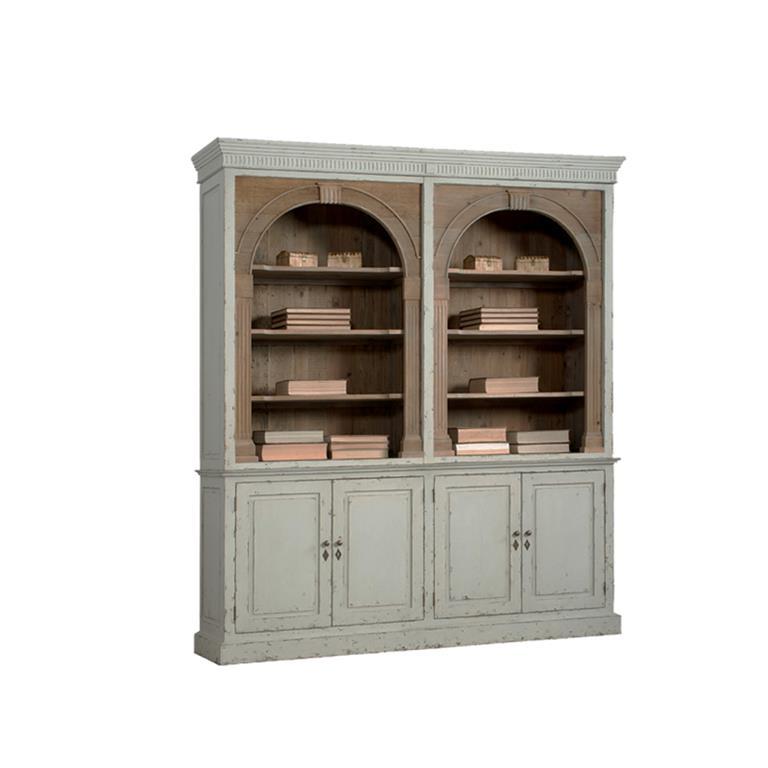biblioth que grise en bois de vieux pin dialma brown. Black Bedroom Furniture Sets. Home Design Ideas