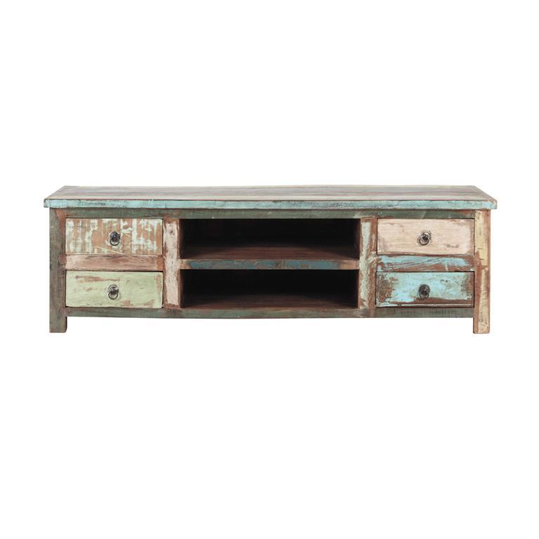 Salle tv for Meuble en bois recycle