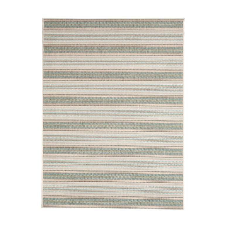 Tapis rayé design en polypropylène vert 160x230