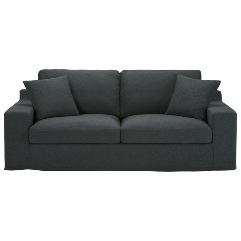 Canapé 3 places en tissu anthracite Stuart