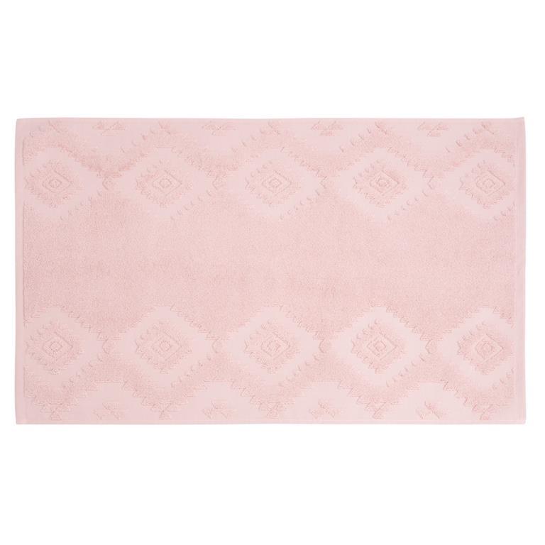 Tapis de bain en coton motifs graphiques 50x80