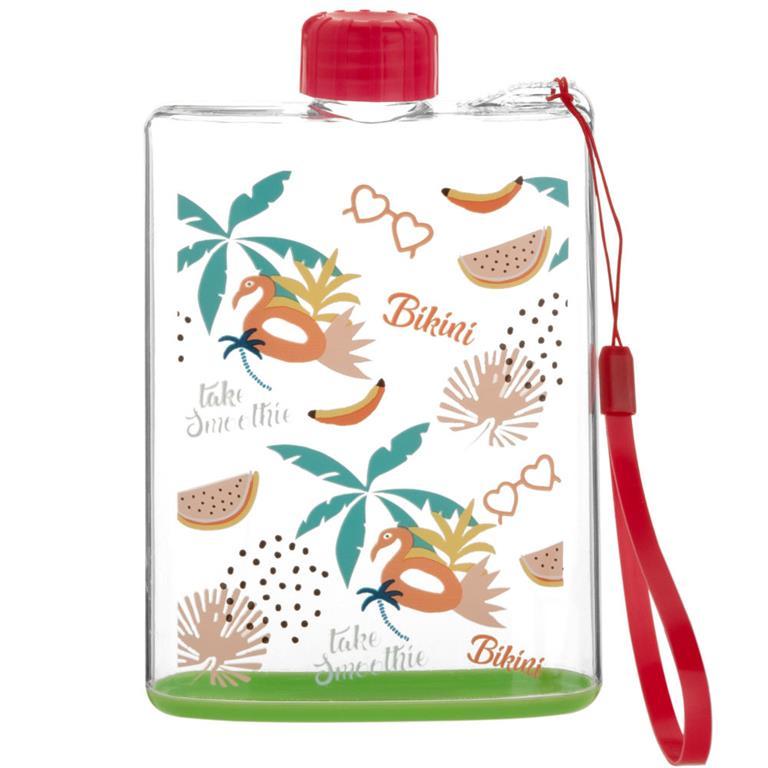 Flasque imprimé tropical multicolore