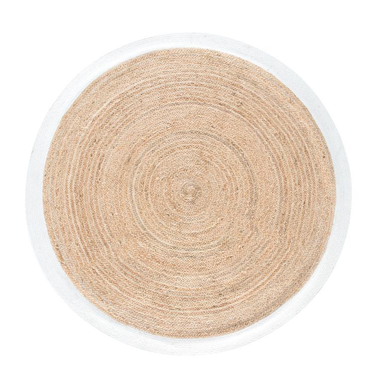 on wholesale low price coupon codes Tapis rond tressé en jute contour blanc D180 Maisons du monde