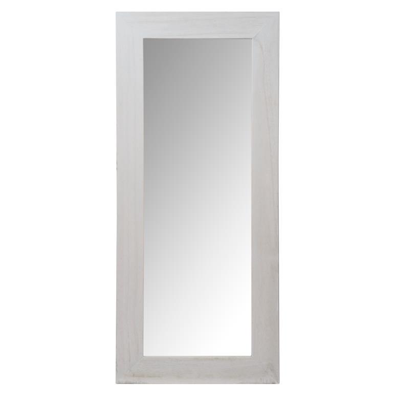 Miroir en bois gris H 130 cm NATURA