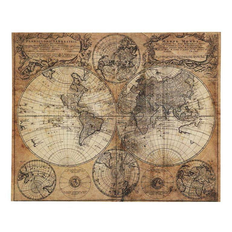 toile imprime carte du monde 73x93 mappemonde