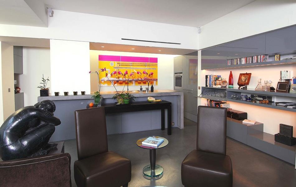 cuisine l 39 am ricaine ouverte sur le salon ma cuisine mon. Black Bedroom Furniture Sets. Home Design Ideas