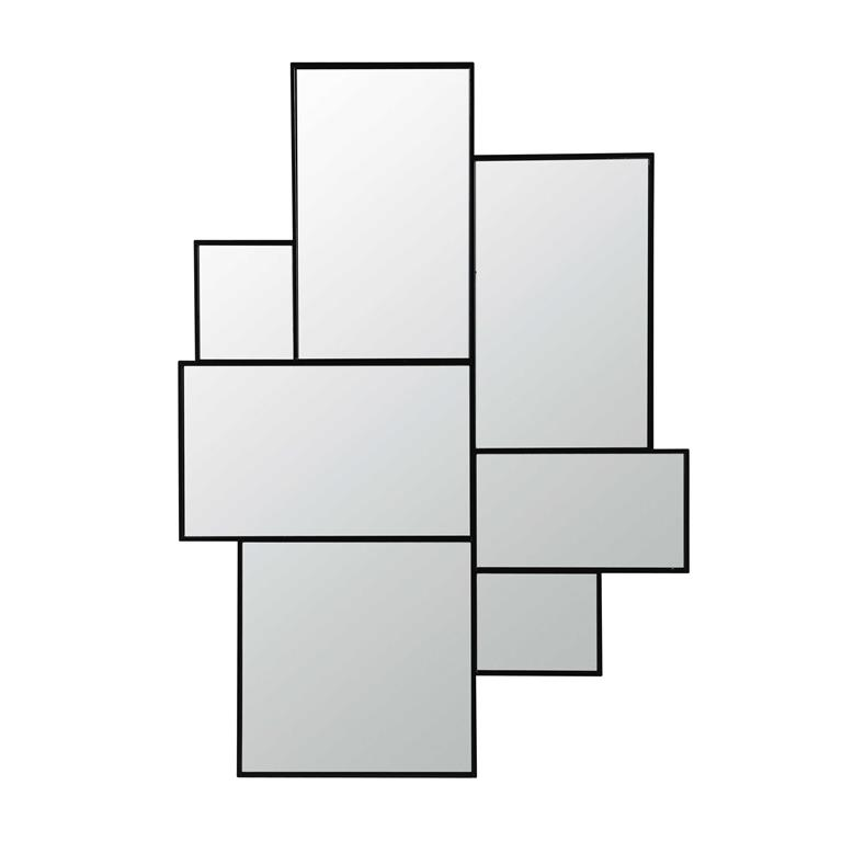 Miroir en métal noir H 123 cm AXEL