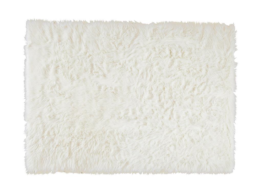Tapis en fausse fourrure blanche 140 x 200