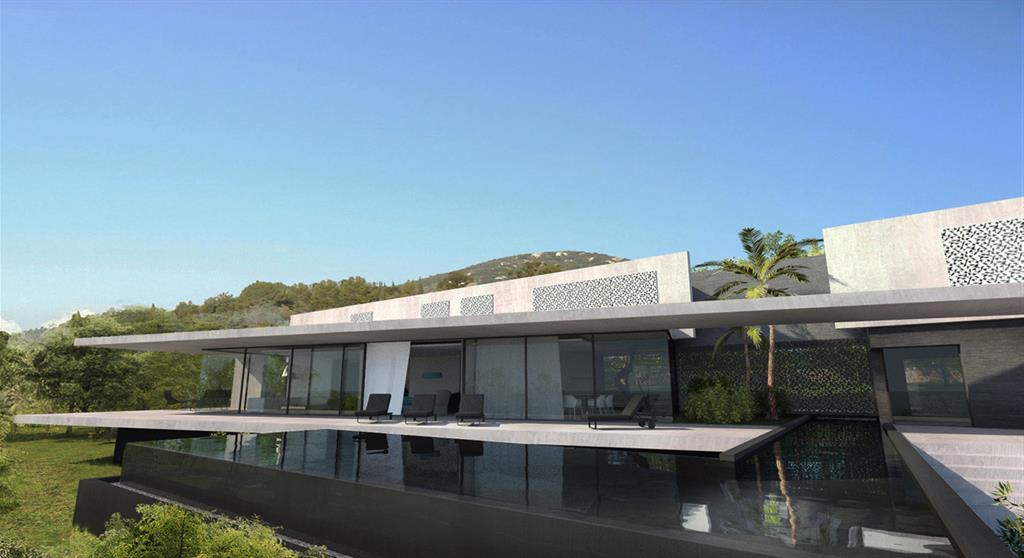 Villa contemporaine saint tropez Jean-Yves Arrivetz