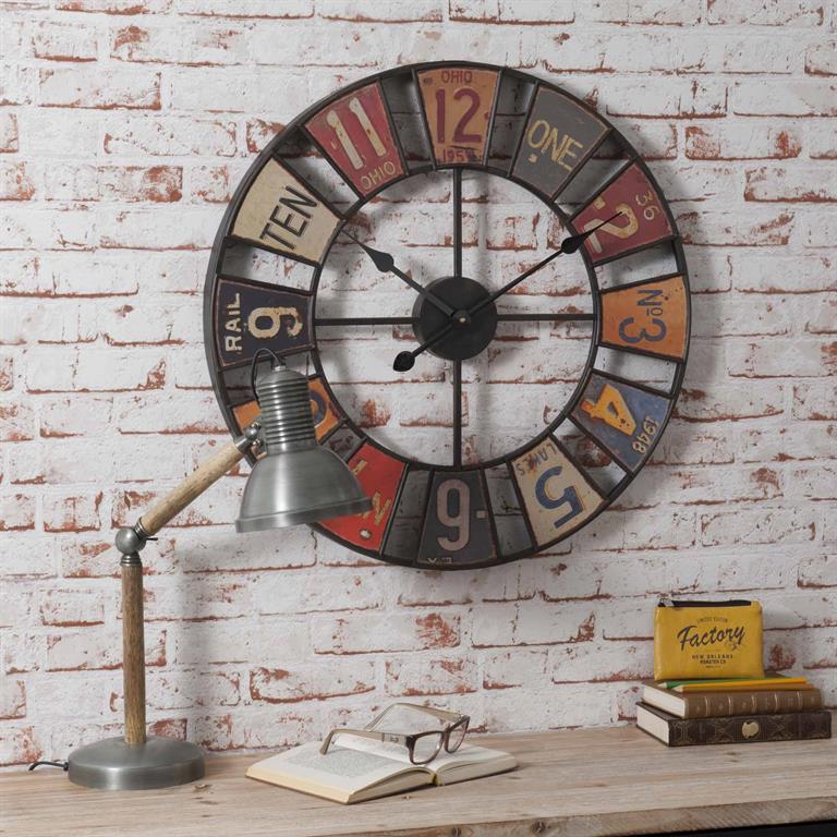 89b83136de2e2c Horloge D 34 cm USA Maisons du monde Ref 152444 - Domozoom