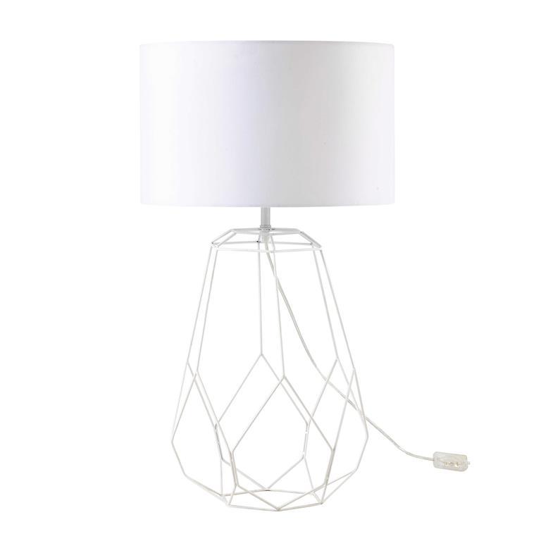 Lampe en métal blanc H 72 cm ORIGAMI