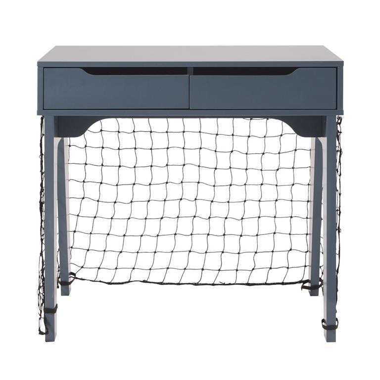 Bureau enfant 2 tiroirs bleu et cage de foot Petit Bolide